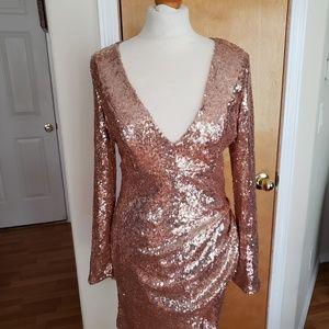 Rose gold sparkle dress